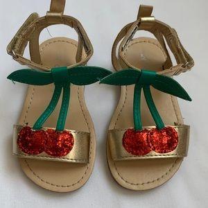 Carter's cherry Sandals toddler girls size 5